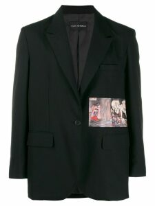 Yuiki Shimoji skeleton patch blazer - Black