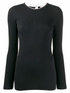 Brunello Cucinelli fitted top - Grey