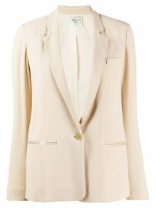 Forte Forte classic single-breasted blazer - NEUTRALS