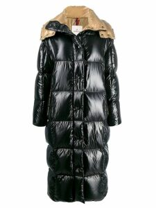 Moncler long puffer coat - Black