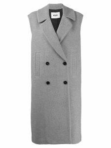 MSGM double breasted sleeveless coat - Grey