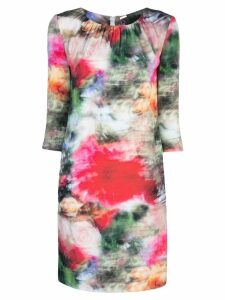 Adam Lippes floral print fitted dress - Multicolour