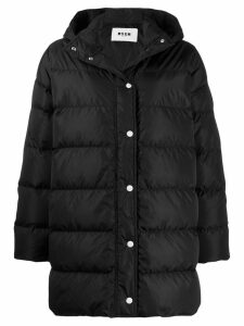 MSGM hooded padded coat - Black