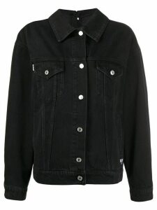 MSGM logo print denim jacket - Black