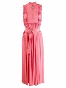 Cédric Charlier sleeveless belted maxi dress - Pink