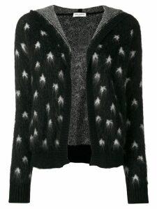 Saint Laurent Baja Court star patterned cardigan - Black