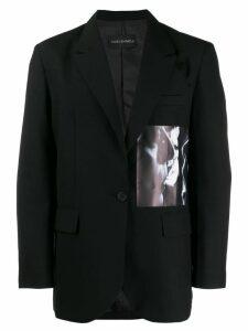 Yuiki Shimoji graphic print blazer - Black