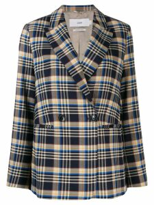 Closed plaid double-breasted blazer - Blue