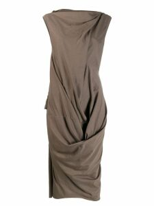 Rick Owens deconstructed fitted dress - Brown