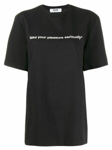 MSGM slogan print T-shirt - Black