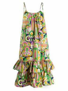 La Doublej Simps geometric print dress - Green