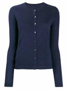 Sottomettimi merino wool knitted cardigan - Blue