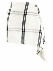Pinko checked draped skirt - White