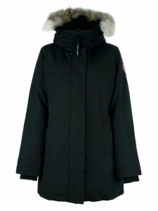 Canada Goose fur collar parka - Black