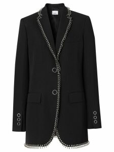 Burberry ring-pierced boxy blazer - Black