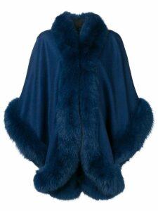 Liska oversized cape coat - Blue