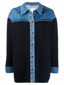 Sandro Paris shirt-style knitted top - Blue