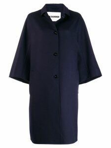 Jil Sander Lacy coat - Blue