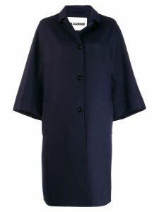 Jil Sander Lacy coat - Blue