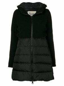 Herno contrast panel puffer jacket - Black