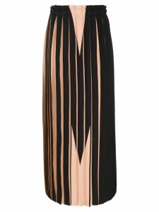 Mm6 Maison Margiela contrast pleated skirt - Black