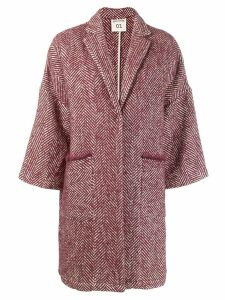 Semicouture Sigmund oversized coat - Red