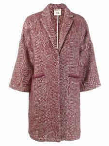 Semicouture Sigmund oversized coat - Red