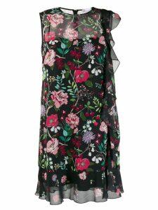 Red Valentino cherry blossom print dress - Black