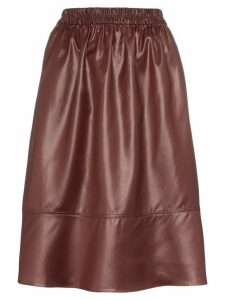 Tibi Liquid Drape midi skirt - Red