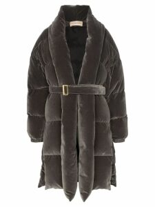 Alexandre Vauthier padded belted coat - Grey