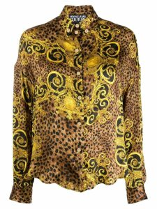 Versace Jeans Couture leopard print shirt - Yellow