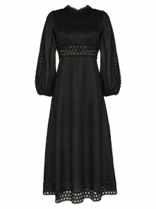 Zimmermann Verity broderie anglaise midi-dress - Black