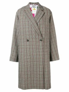 Stella McCartney Stella McCartney x The Beatles check coat - Black