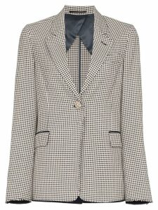 Golden Goose single-breasted gingham blazer - A1 Navy White Check