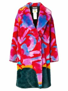 Stella McCartney faux-fur printed coat - Pink