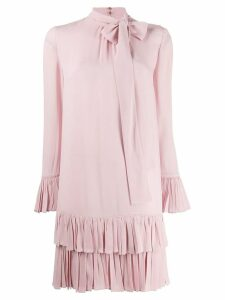 Valentino bow frilled dress - Pink
