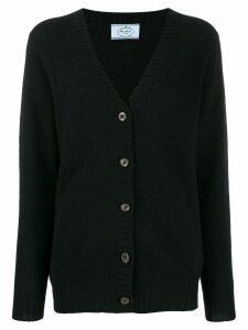 Prada cashmere v-neck cardigan - Black