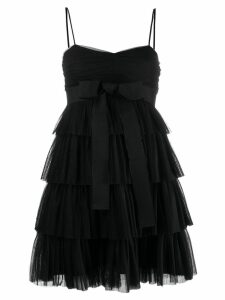 Red Valentino bow tulle embellished dress - Black