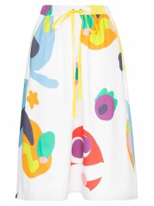 Mira Mikati abstract patterned midi skirt - Blue