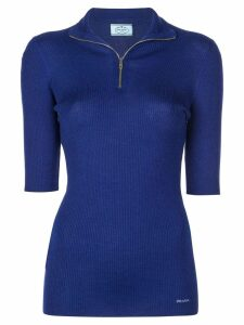 Prada half-zip knitted top - Blue