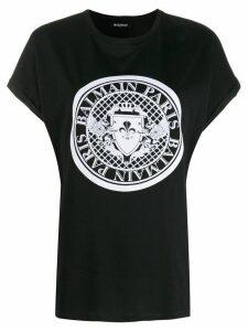 Balmain medallion print T-shirt - Black