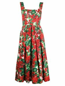 Dolce & Gabbana crepe floral-print dress - Red