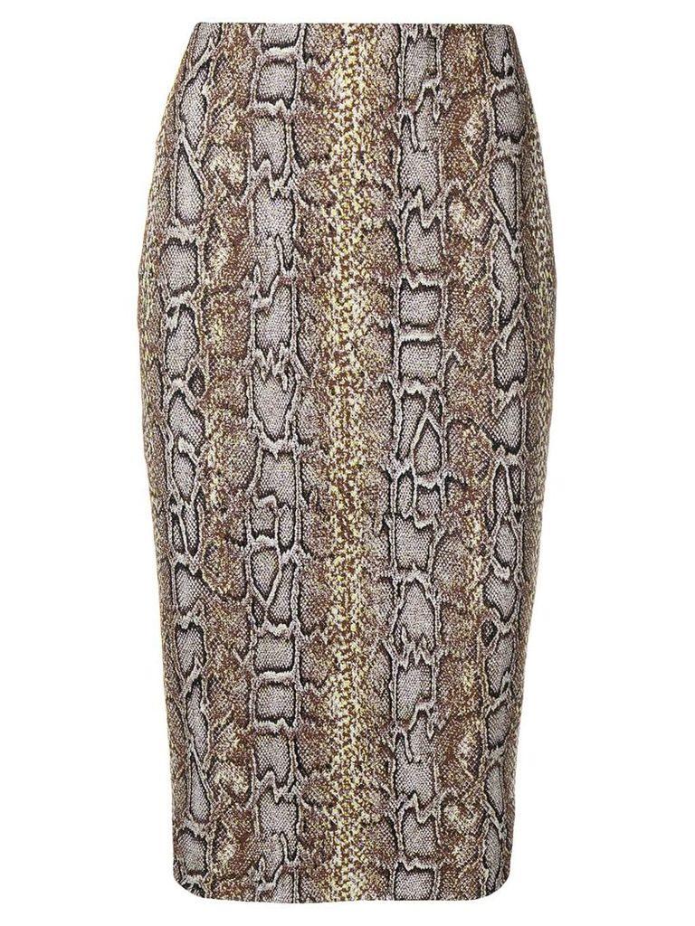 Victoria Beckham pencil skirt - Brown