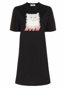MSGM Mini Cat T-shirt dress - Black