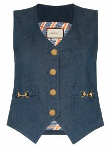 Gucci Horesbit denim waistcoat - Blue