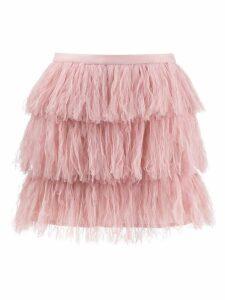Red Valentino tulle fabric mini skirt - Neutrals