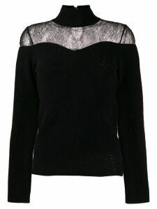 Fendi lace insert jumper - Black