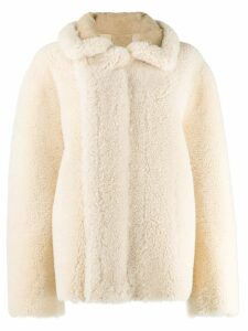 Bottega Veneta Caban shearling coat - Neutrals