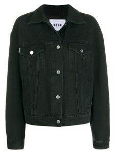 MSGM cat denim jacket - Black