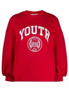 MSGM logo sweater - Red